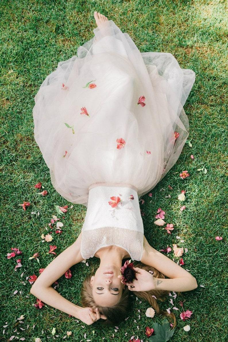 Romantic Wedding Dress Wedding dress Boho wedding dress Short Sleeve Wedding Dress vintage wedding dress elegant wedding gown