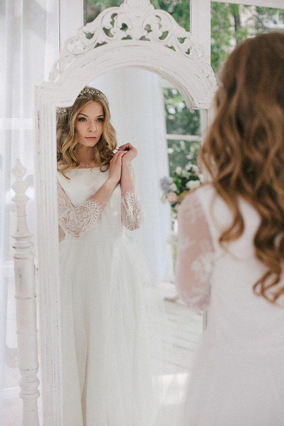 Wedding vintage dress wedding Wedding Long Sleeve Romantic elegant Dress Boho Dress dress wedding Wedding dress wedding gown fzxwHq