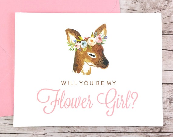 Will You Be My Flower Girl Card (FPS0009)