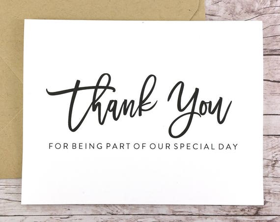 Thank You for Being Part of our Special Day Card (FPS0017)