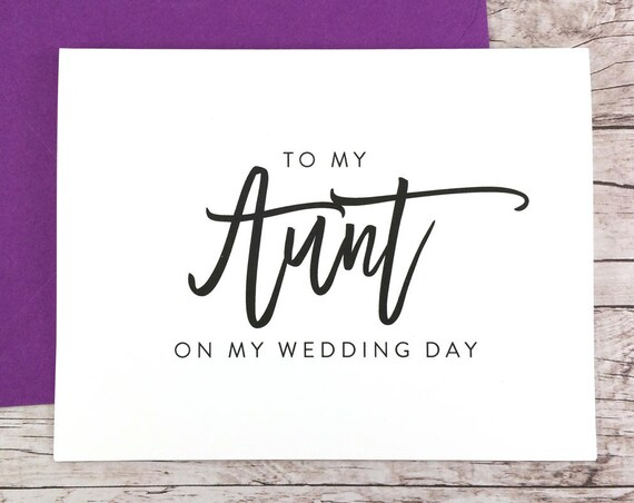 To My Aunt On My Wedding Day Card (FPS0017)