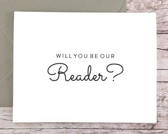 Will You Be Our Reader Card, Wedding Reader Card, Wedding Card- (FPS0016)