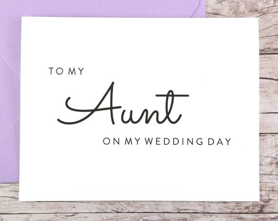 To My Aunt On My Wedding Day Card (FPS0016)