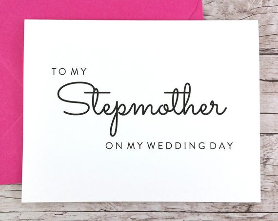 To My Stepmother On My Wedding Day Card (FPS0016)