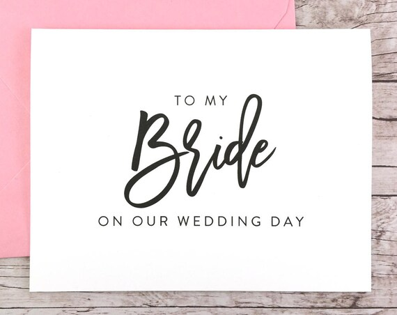 To My Bride On Our Wedding Day Card (FPS0017)