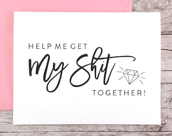 Funny Bridesmaid Card, Funny Bridesmaid Proposal, Will You Be My Bridesmaid Card, Will You Be My Maid of Honor Card - (FPS0057)