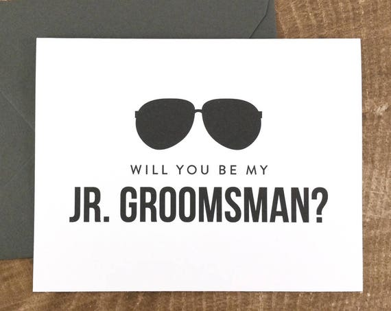 Will You Be My Junior Groomsman Card Funny Groomsman Card (FPS0006)