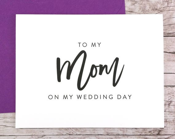 To My Mom On My Wedding Day Card (FPS0017)