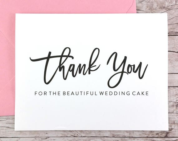Thank You for the Beautiful Wedding Cake Card (FPS0017)