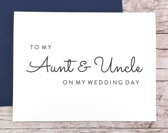To My Aunt & Uncle On My Wedding Day Card (FPS0016)