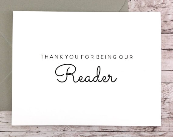 Thank You For Being Our Reader Card (FPS0016)