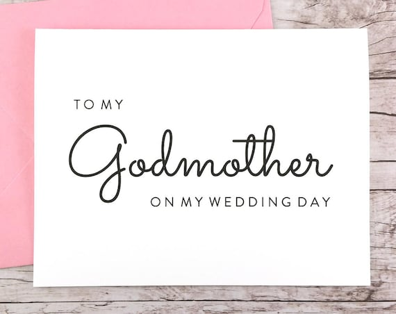 To My Godmother On My Wedding Day Card (FPS0016)
