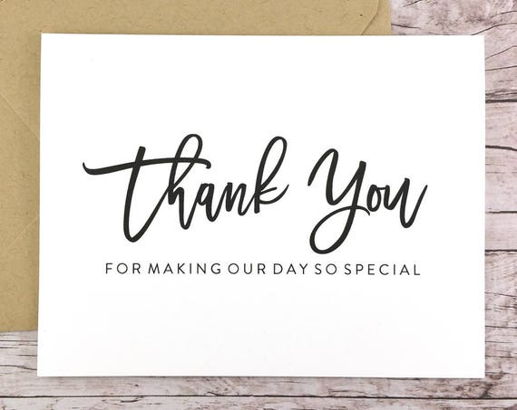 Thank You for Making Our Day So Special Card (FPS0017)