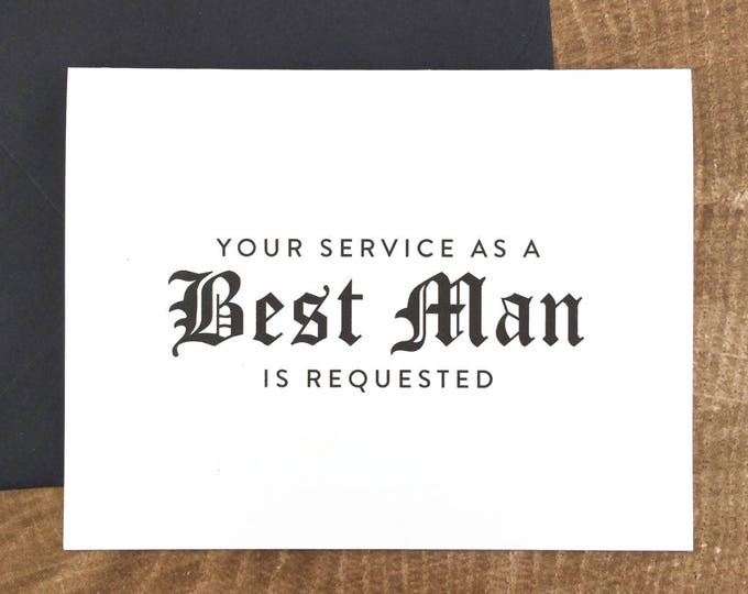 Your Service as a Best Man is Requested Card (FPS0011)