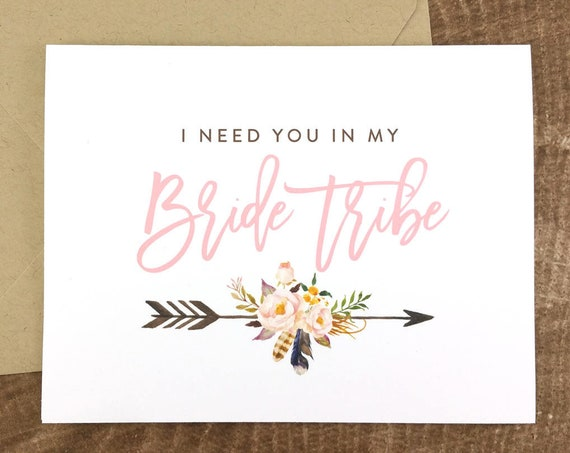 I Need You In My Bride Tribe Card (FPS0040)