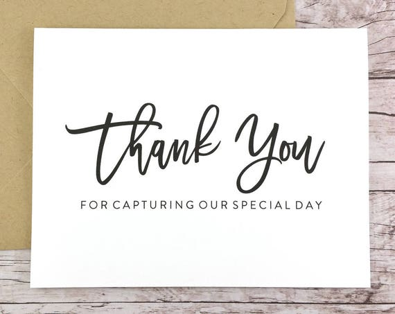 Thank You For Capturing Our Special Day Card (FPS0017)