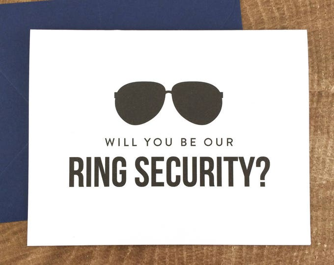 Will You Be Our Ring Security Card Funny Ring Bearer Card (FPS0006)