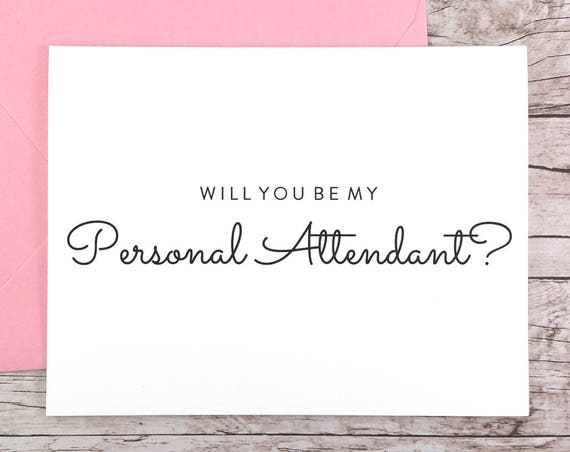 Will You Be My Personal Attendant Card (FPS0016)