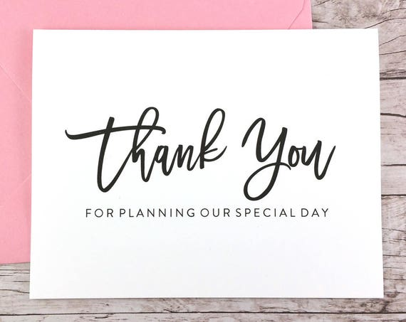 Thank You For Planning Our Special Day Card (FPS0017)