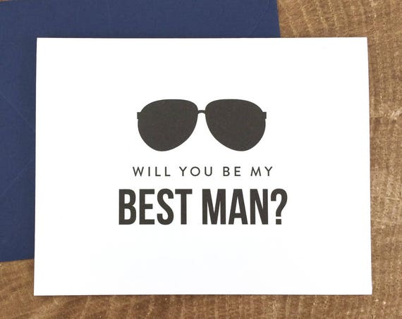 Will You Be My Best Man Card Funny Best Man Card (FPS0006)