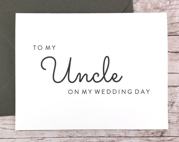 To My Uncle On My Wedding Day Card (FPS0016)