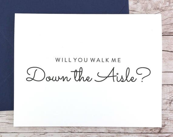 Will You Walk Me Down the Aisle Card (FPS0016)