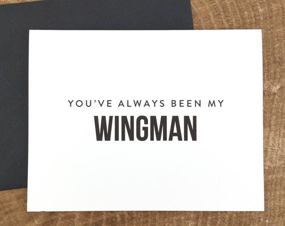 You've Always Been My Wingman Card Will You Be My Groomsman Card (FPS0002)
