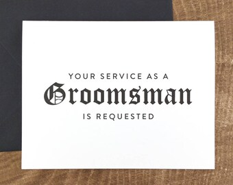 Your Service as a Groomsman is Requested Card (FPS0011)