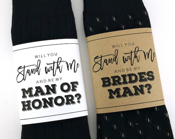 Will you be my Bridesman Sock Wrapper