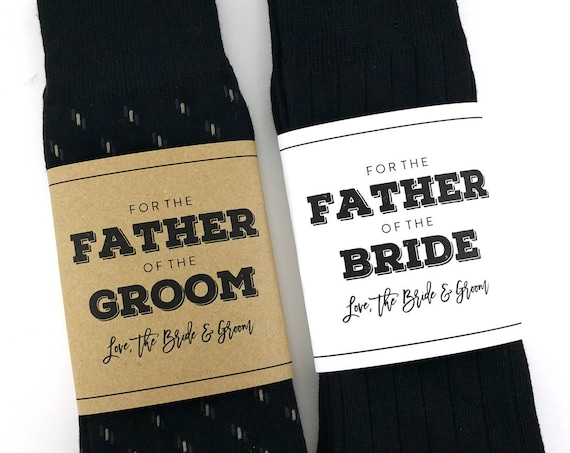 Father of the Bride Sock Wrapper / Father of the Groom Sock Wrapper