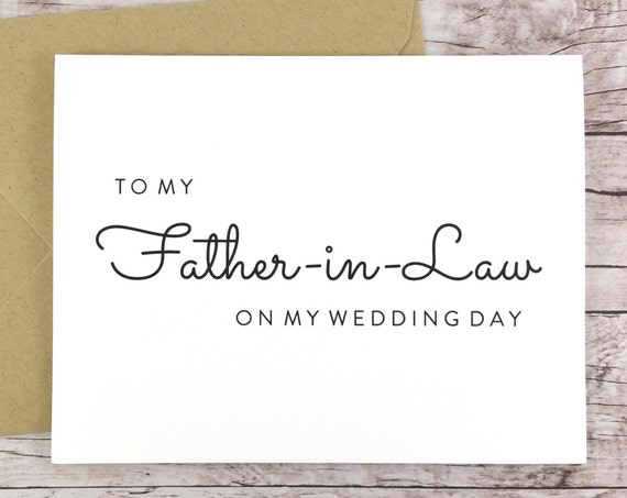 To My Father-in-Law On My Wedding Day Card (FPS0016)
