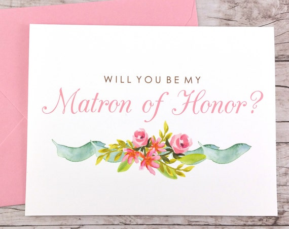 Will You Be My Matron of Honor Card (FPS0019)