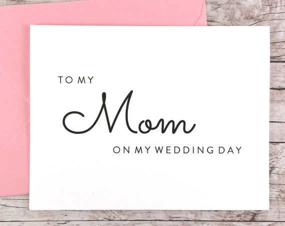 To My Mom On My Wedding Day Card (FPS0016)
