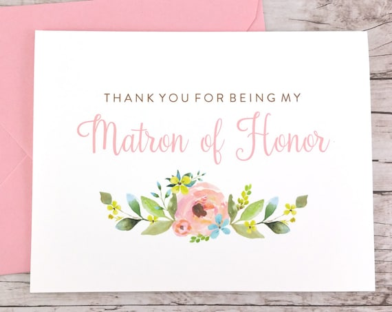 Thank You For Being My Matron of Honor Card (FPS0013)