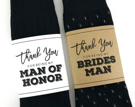 Thank You for being my Bridesman Sock Wrapper
