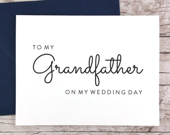To My Grandfather On My Wedding Day Card (FPS0016)