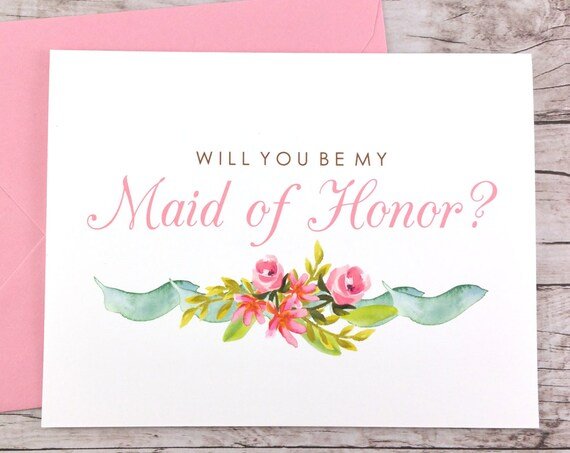 Will You Be My Maid of Honor Card (FPS0019)