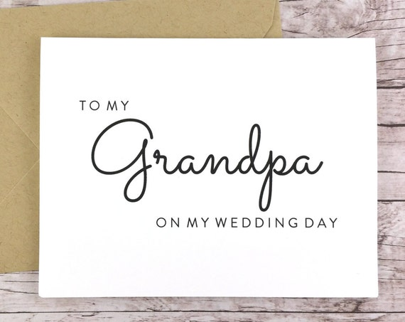 To My Grandpa On My Wedding Day Card (FPS0016)