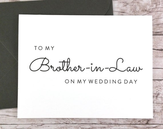 To My Brother-in-Law On My Wedding Day Card (FPS0016)