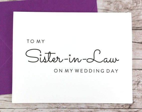 To My Sister-in-Law On My Wedding Day Card (FPS0016)