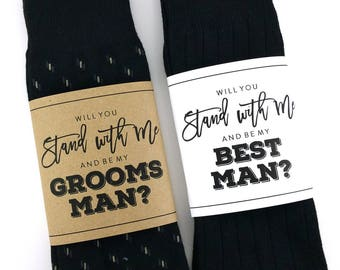 Will you be my Groomsman Sock Wrapper
