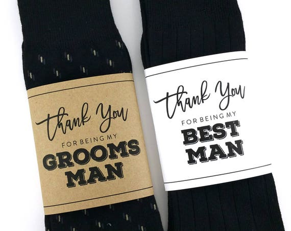 Thank You for being my Groomsman Sock Wrapper