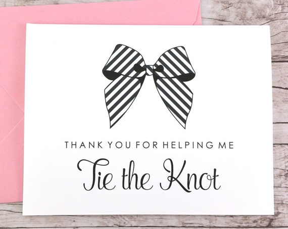 Thank You For Helping Me Tie the Knot Card (FPS0014)
