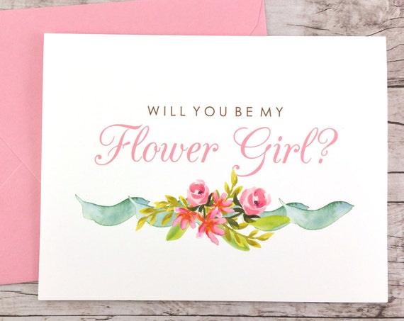 Will You Be My Flower Girl Card (FPS0019)