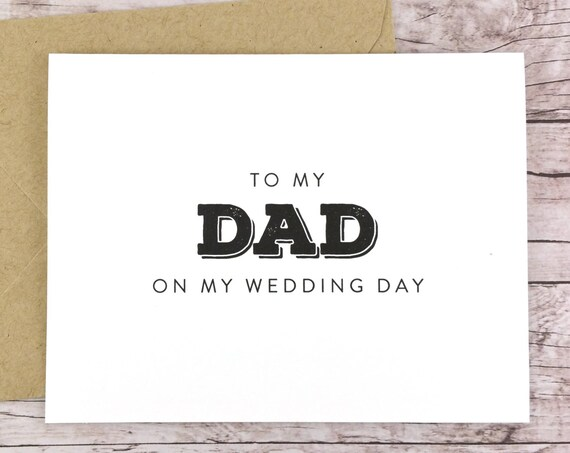 To My Dad On My Wedding Day Card (FPS0039)