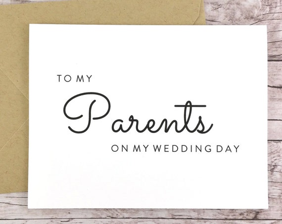 To My Parents On My Wedding Day Card (FPS0016)