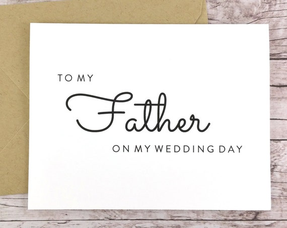 To My Father On My Wedding Day Card (FPS0016)