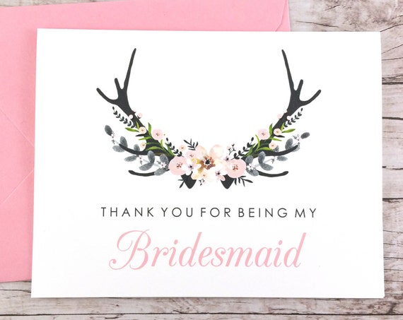 Thank You For Being My Bridesmaid Card (FPS0024)