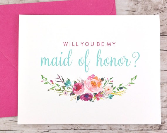 Will You Be My Maid of Honor Card (FPS0021)