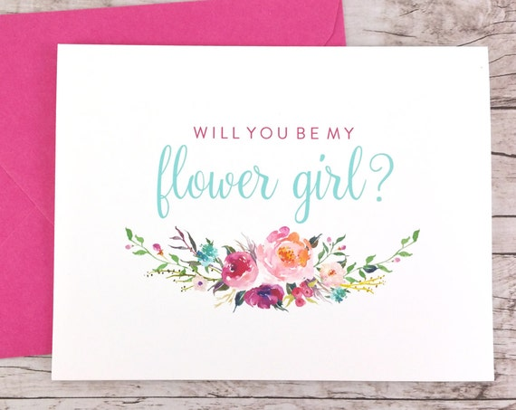 Will You Be My Flower Girl Card (FPS0021)